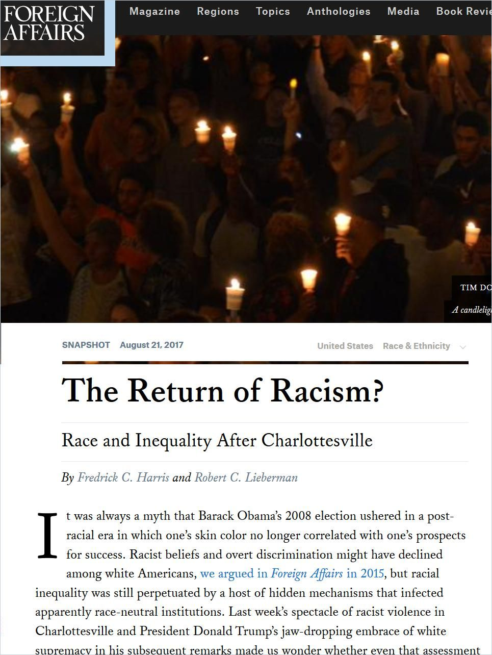 Image of: The Return of Racism?