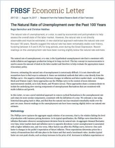 The Natural Rate of Unemployment over the Past 100 Years