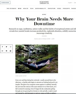 Why Your Brain Needs More Downtime