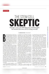 The Stem Cell Skeptic summary