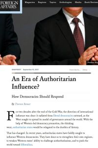An Era of Authoritarian Influence? summary