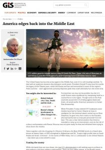 America edges back into the Middle East