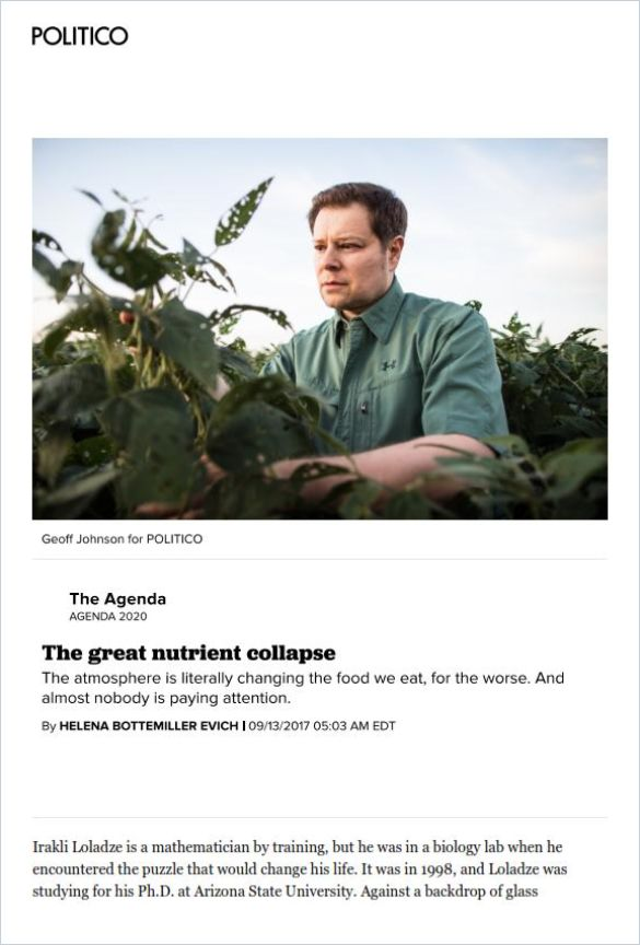 Image of: The Great Nutrient Collapse