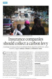 Insurance Companies Should Collect a Carbon Levy summary