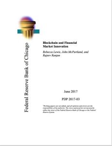 Blockchain and Financial Market Innovation