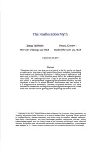 The Reallocation Myth summary