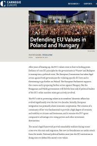 Defending EU Values in Poland and Hungary summary