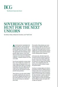 Sovereign Wealth's Hunt for the Next Unicorn summary