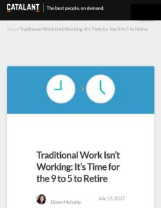 Traditional Work Isn't Working