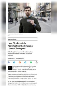 How Blockchain Is Kickstarting the Financial Lives of Refugees summary