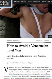How to Avoid a Venezuelan Civil War summary