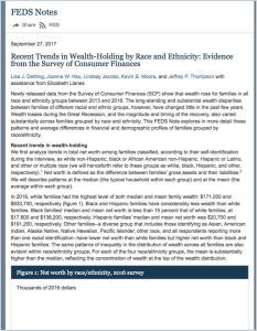 Recent Trends in Wealth-Holding by Race and Ethnicity
