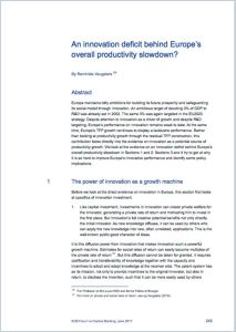 An Innovation Deficit Behind Europe's Overall Productivity Slowdown?