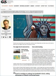 The Contours of a Future Middle East Emerge summary