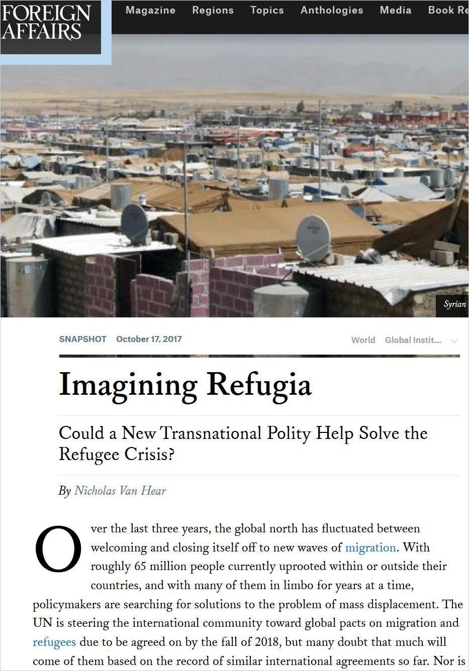 Image of: Imagining Refugia