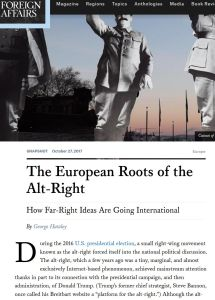 The European Roots of the Alt-Right summary