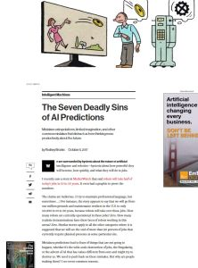 The Seven Deadly Sins of AI Predictions