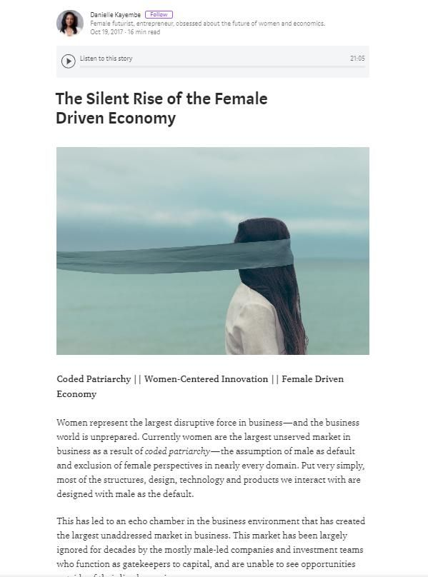 Image of: The Silent Rise of the Female Driven Economy