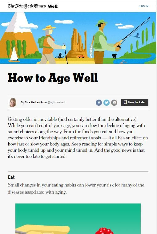 Image of: How to Age Well