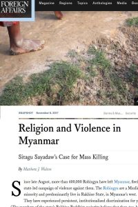 Religion and Violence in Myanmar summary