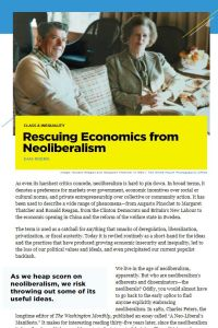 Rescuing Economics from Neoliberalism summary