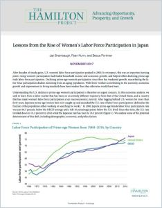 Lessons from the Rise of Women's Labor Force Participation in Japan