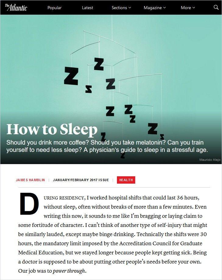 Image of: How to Sleep