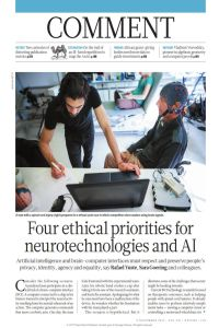 Four Ethical Priorities for Neurotechnologies and AI summary