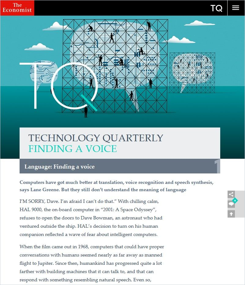 Image of: Technology Quarterly: Finding a Voice