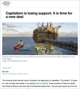 Capitalism is losing support. It is time for a new deal
