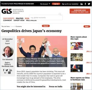 Geopolitics Drives Japan's Economy