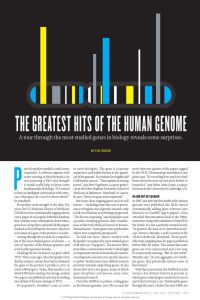 The Greatest Hits of the Human Genome summary