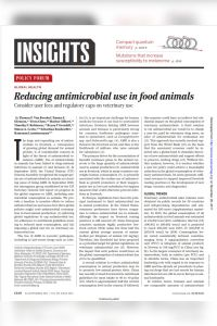 Reducing Antimicrobial Use in Food Animals summary