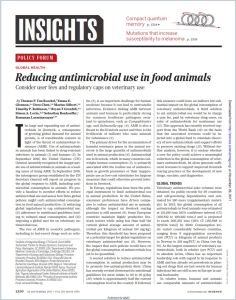 Reducing Antimicrobial Use in Food Animals