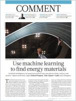 Use Machine Learning to Find Energy Materials