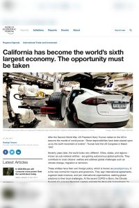 California has become the world's sixth largest economy. The opportunity must be taken summary