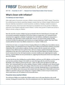 What's Down with Inflation?