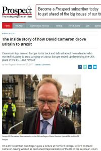 The Inside Story of How David Cameron Drove Britain to Brexit summary