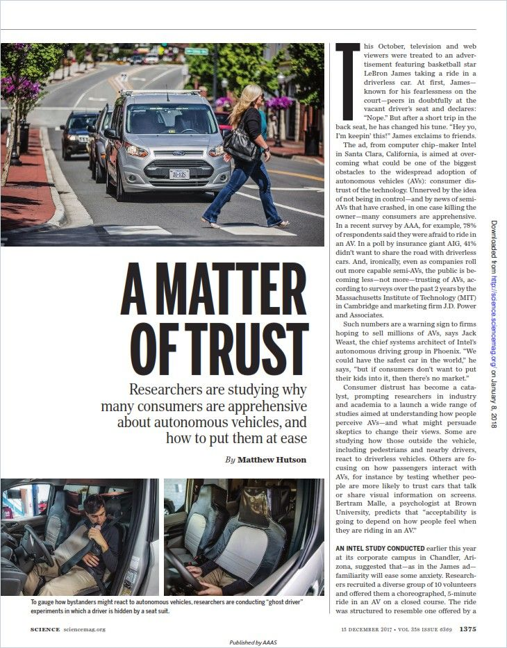 Image of: A Matter of Trust