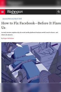 How to Fix Facebook – Before It Fixes Us summary