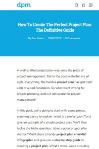 How to Create the Perfect Project Plan summary