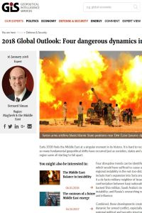 2018 Global Outlook: Four dangerous dynamics in the Middle East summary