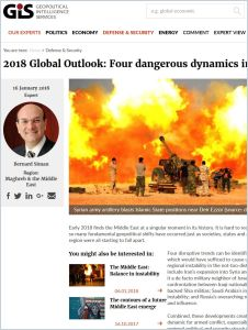 2018 Global Outlook: Four dangerous dynamics in the Middle East