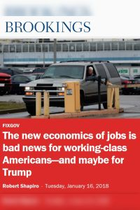 The new economics of jobs is bad news for working-class Americans – and maybe for Trump summary
