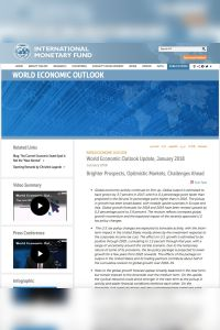 World Economic Outlook Update, January 2018 summary