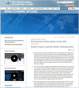 World Economic Outlook Update, January 2018