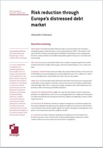 Risk Reduction Through Europe's Distressed Debt Market