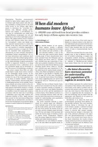 When Did Modern Humans Leave Africa? summary