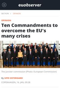 Ten Commandments to Overcome the EU's Many Crises summary