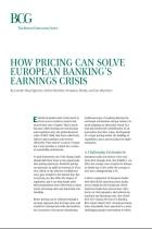 How Pricing Can Solve European Banking's Earnings Crisis